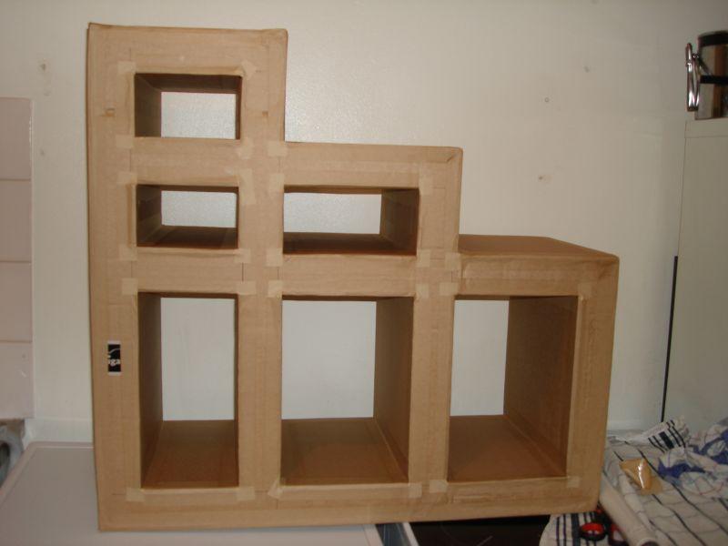 Meuble en carton escalier at les cr ations d 39 onyx - Meuble escalier ikea ...
