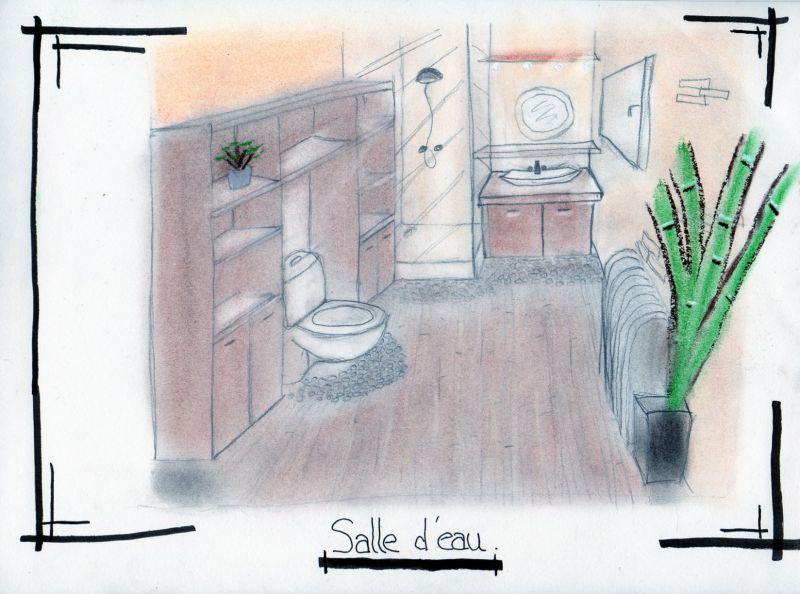 Croquis D Co Salon Salle D Eau Et Chambre At Les